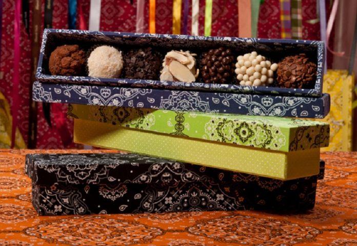 Brigadeiros de chocolate e côco