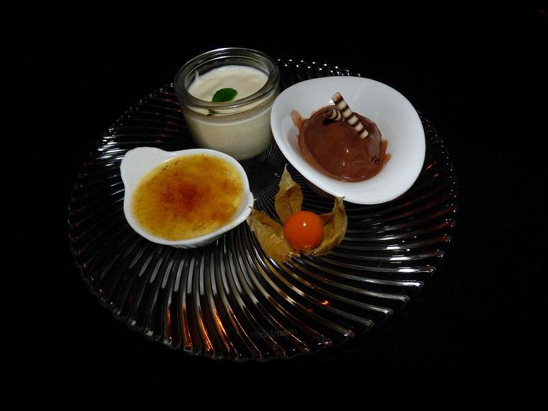 Mousse de chocolate com Praliné de Amêndoas