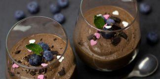 Mousse de chocolate e menta