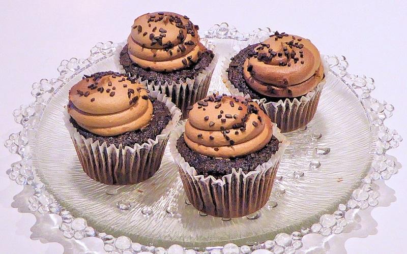 Cupcakes de chocolate e iogurte