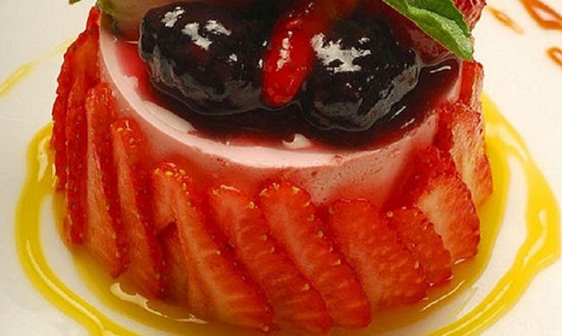 Flan de morango sem lactose