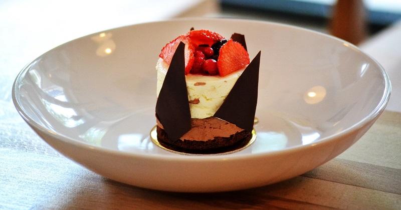 Mousse de chocolate negro e branco