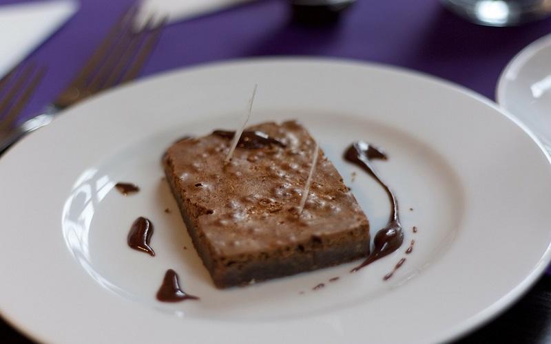 Brownie de chocolate e café
