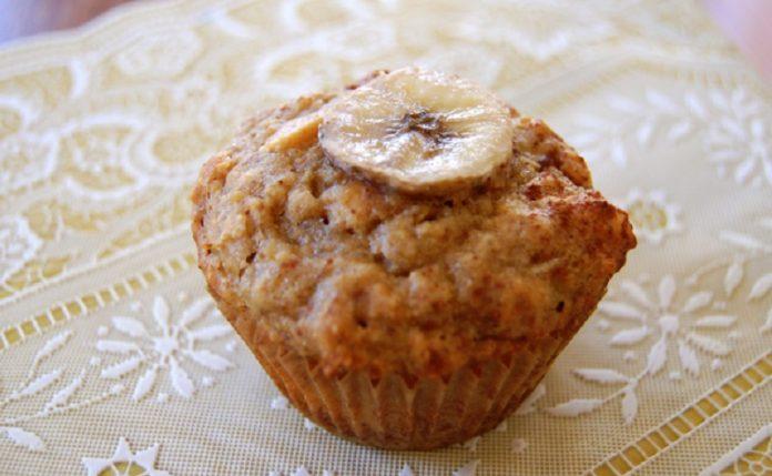 Muffin de banana e leite condensado