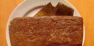 Bolo de chocolate, batata doce e framboesas (Vegan)
