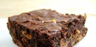Brownie de feijão vegan (s/ lactose e s/ glúten)