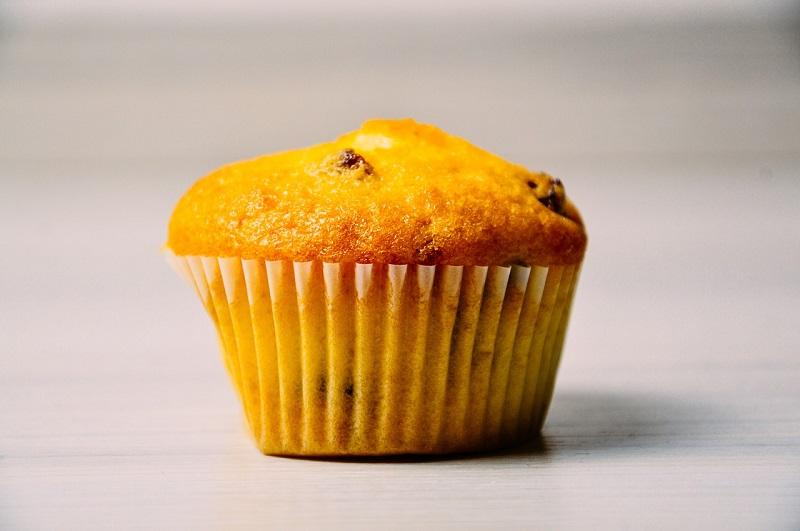 Cupcake de laranja vegan