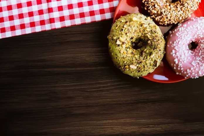 Donuts Vegan com Gaceado de Matcha