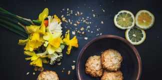 Bolachas de limão e aveia